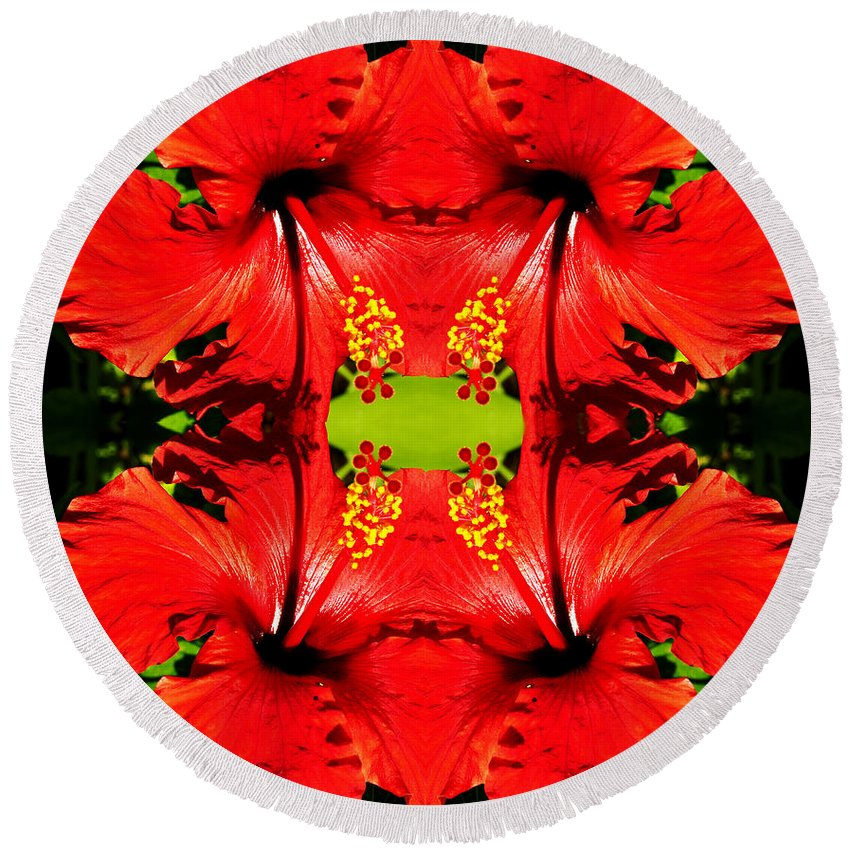 Clay Round Beach Towel featuring the photograph Symmetry by Clayton Bruster