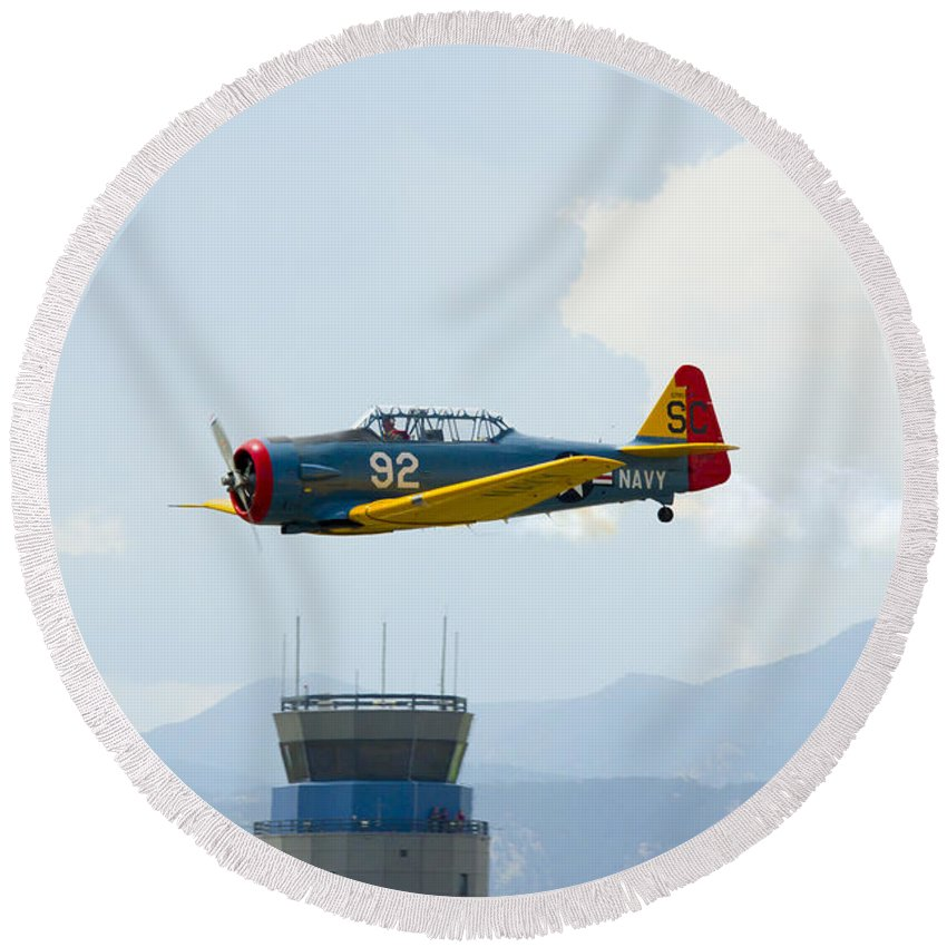 T-6g Round Beach Towel featuring the photograph T-6g by Brian Jordan