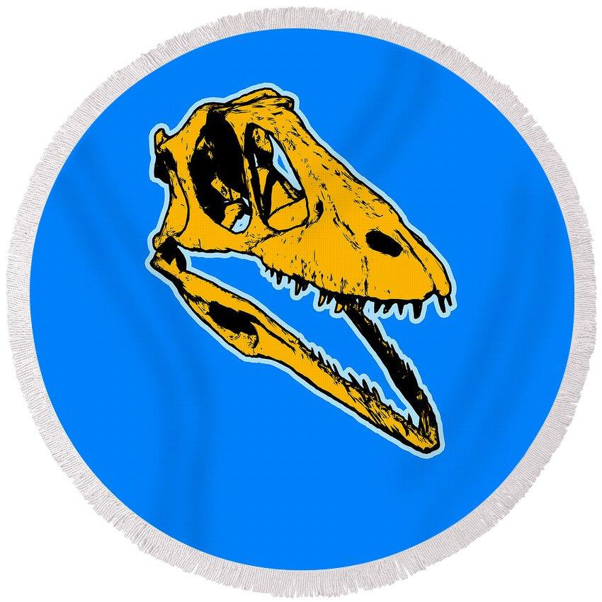 Dinosaur Round Beach Towels