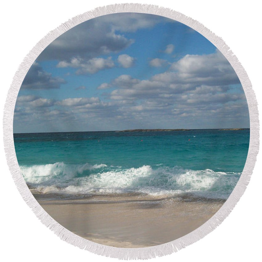 Bahamas Round Beach Towel featuring the photograph Take Me To The Bahamas by Gina Sullivan