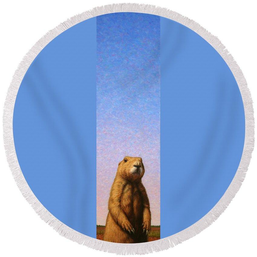 Prairie Dog Round Beach Towels