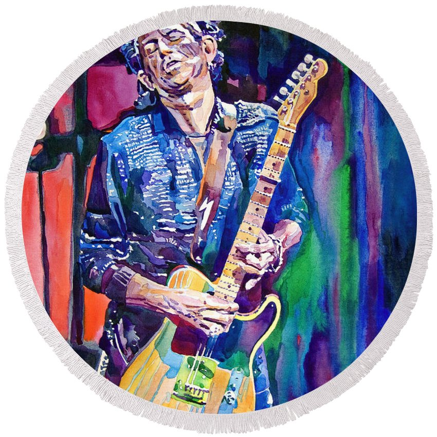 Keith Richards Round Beach Towels
