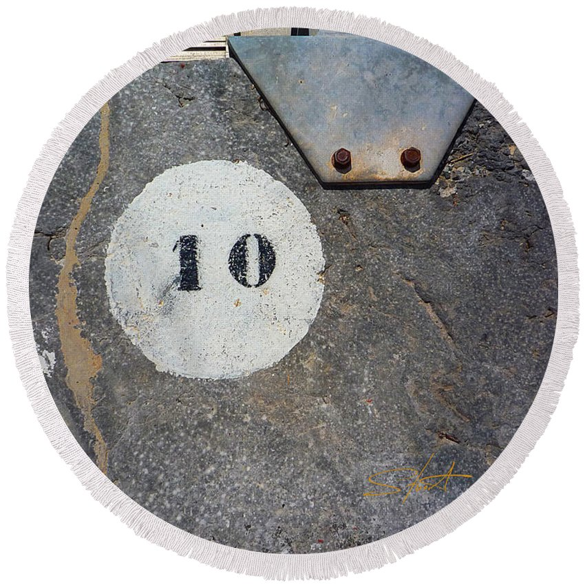 Number Round Beach Towel featuring the photograph Ten by Charles Stuart