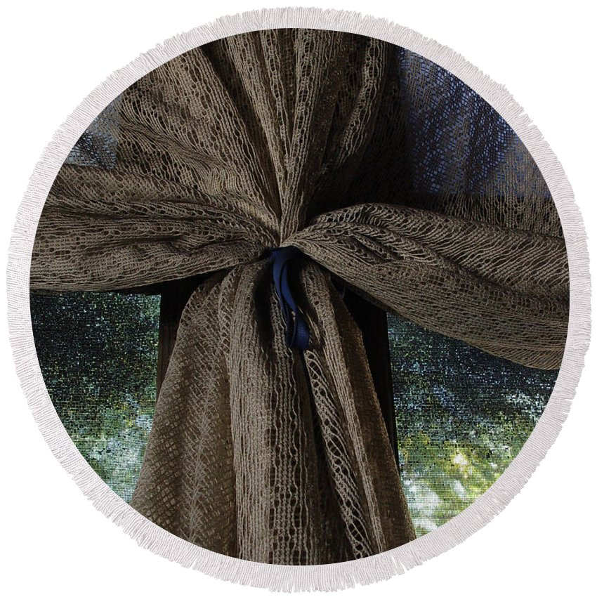 Texture Round Beach Towel featuring the photograph Texture And Lace by Peter Piatt