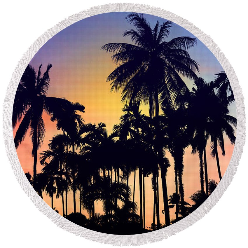 Thailand Round Beach Towel featuring the photograph Thailand by Mark Ashkenazi