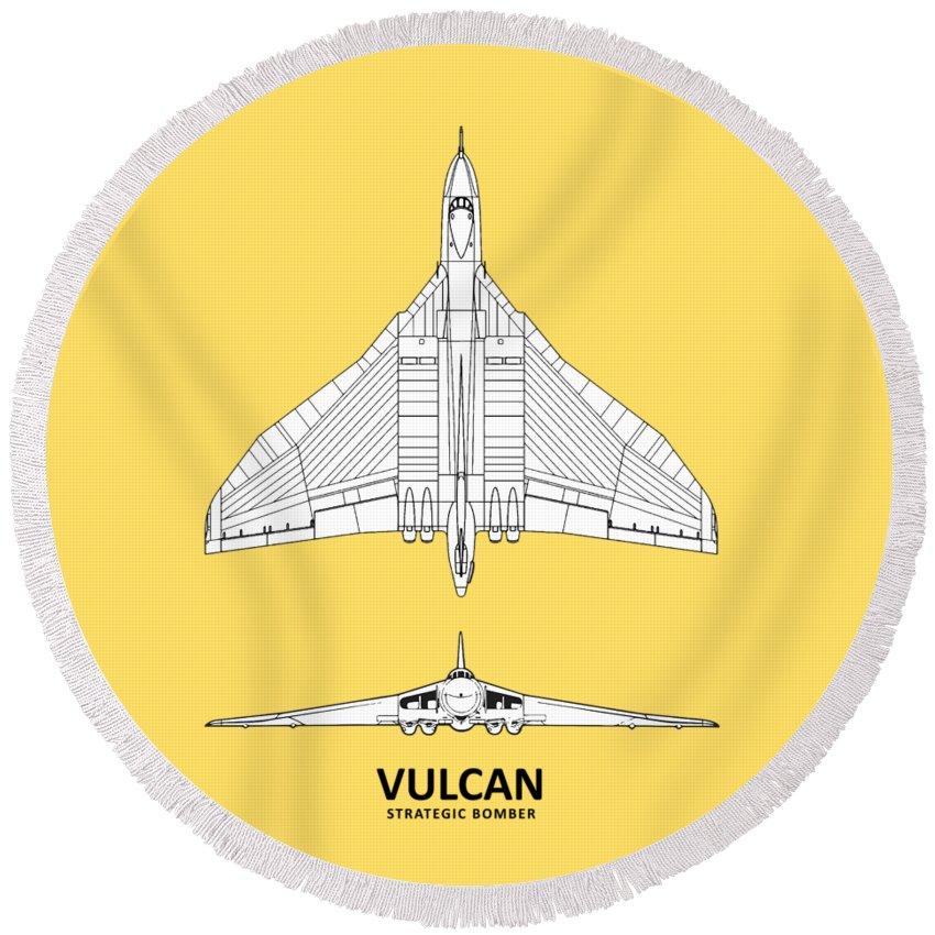 Avro Vulcan Round Beach Towel featuring the photograph The Avro Vulcan by Mark Rogan