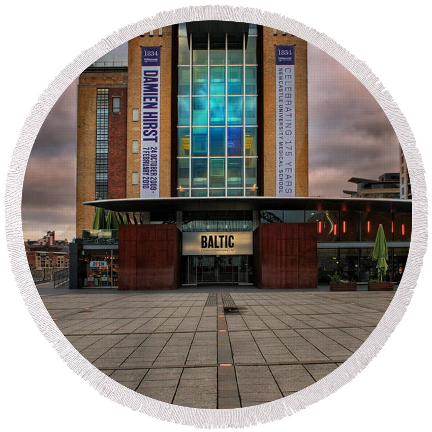 Baltic Gateshead Round Beach Towel featuring the photograph The Baltic by Smart Aviation