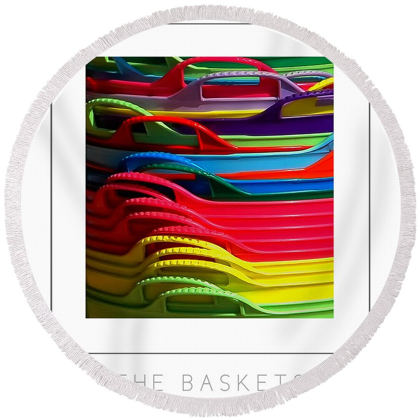 Baskets Round Beach Towel featuring the photograph The Baskets Poster by Mike Nellums