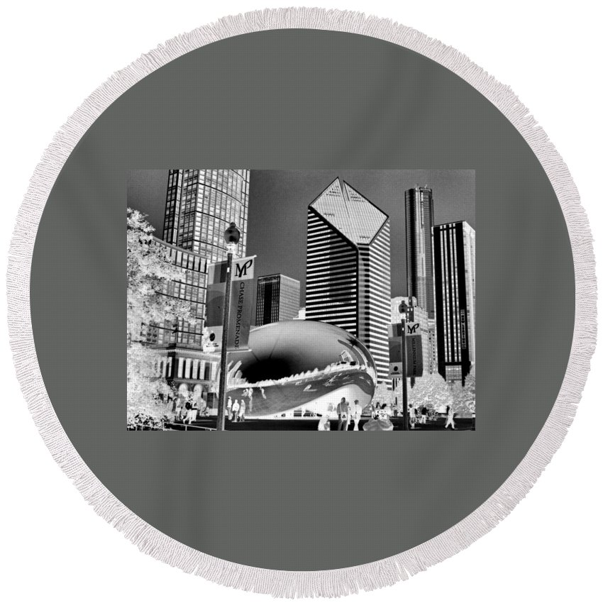 The Bean Round Beach Towel featuring the photograph The Bean - 2 by Ely Arsha
