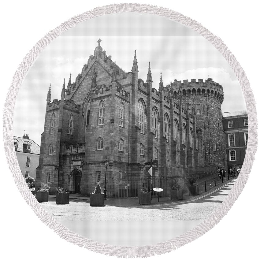 Arch Round Beach Towel featuring the photograph The Chapel Royal - Dublin by Doc Braham