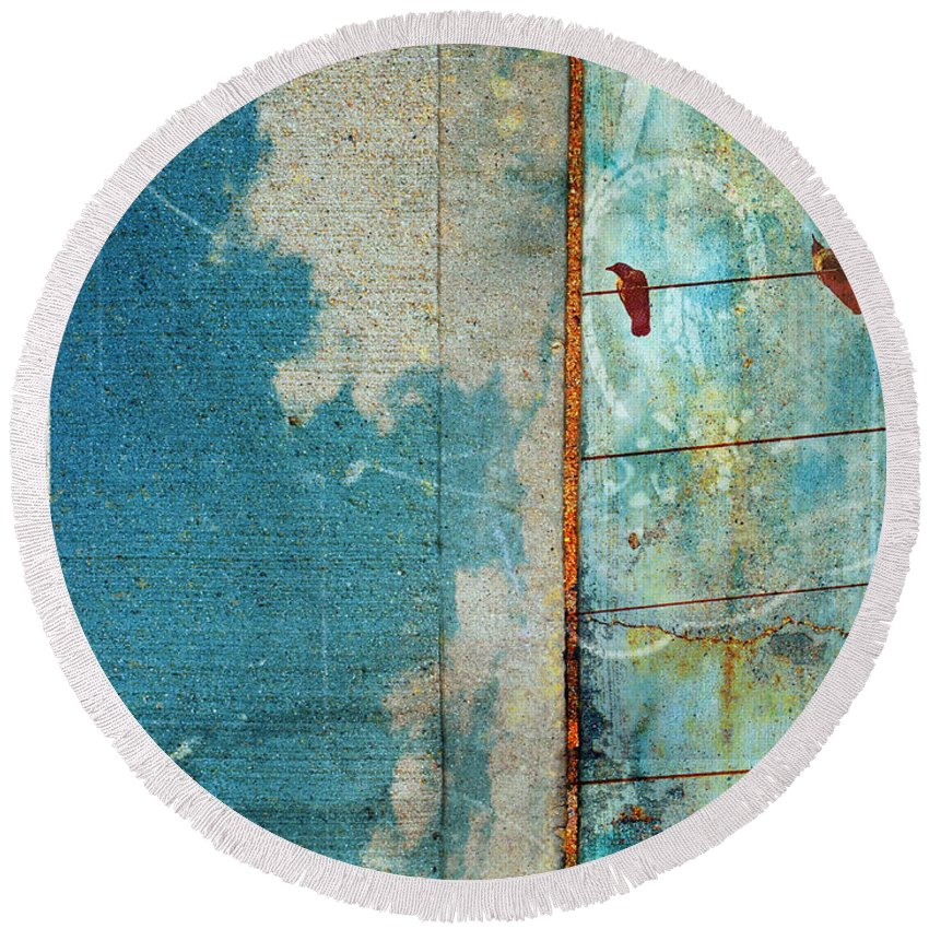 Sky Round Beach Towel featuring the photograph The Concrete Sky by Tara Turner