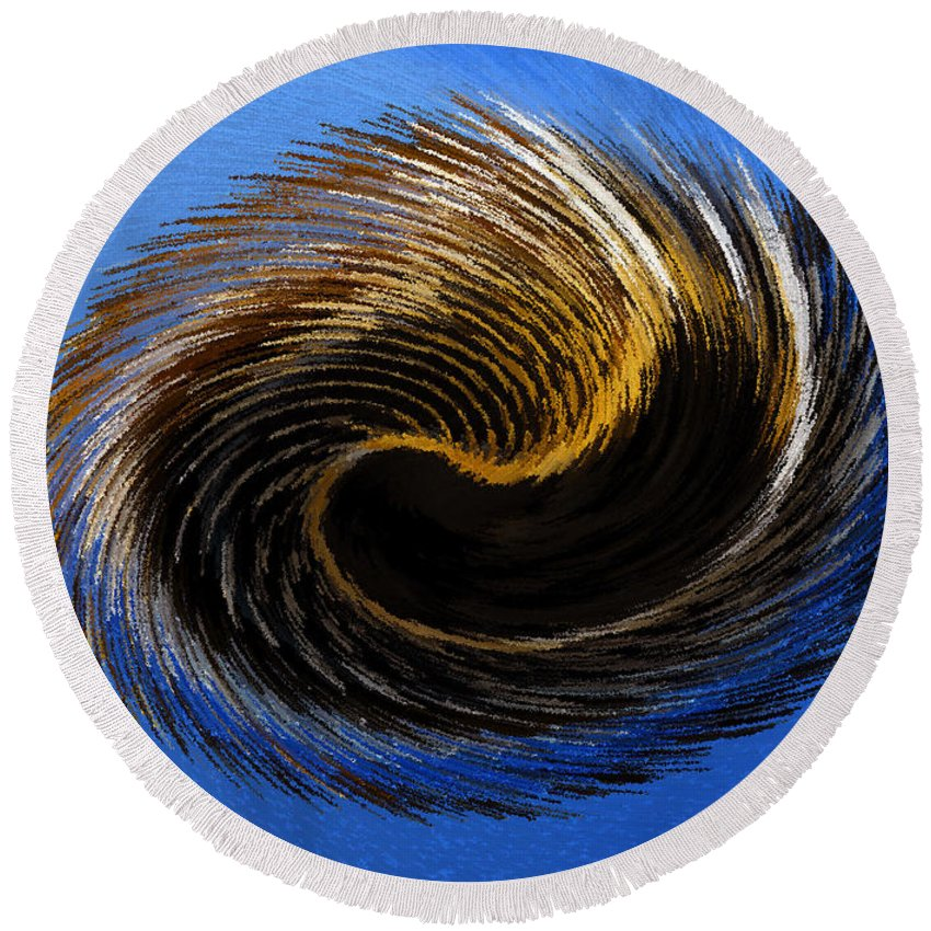 Artwork Round Beach Towel featuring the painting The Digital Paintbrush by David Lee Thompson