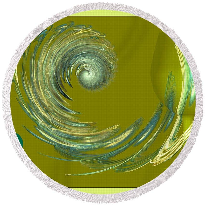 Round Beach Towel featuring the digital art The Elixir Of Love by Deborah Benoit