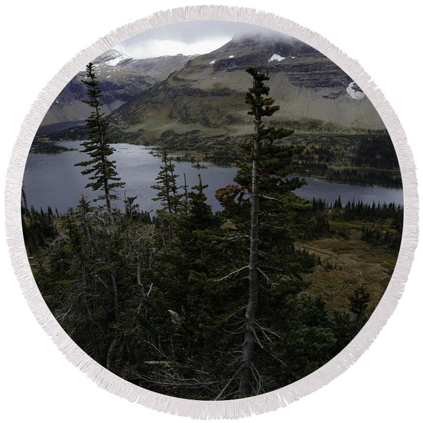 Wyoming Round Beach Towel featuring the photograph The Hidden Lake by Michael J Samuels