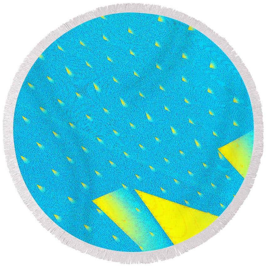 Clay Round Beach Towel featuring the digital art The Illusion by Clayton Bruster