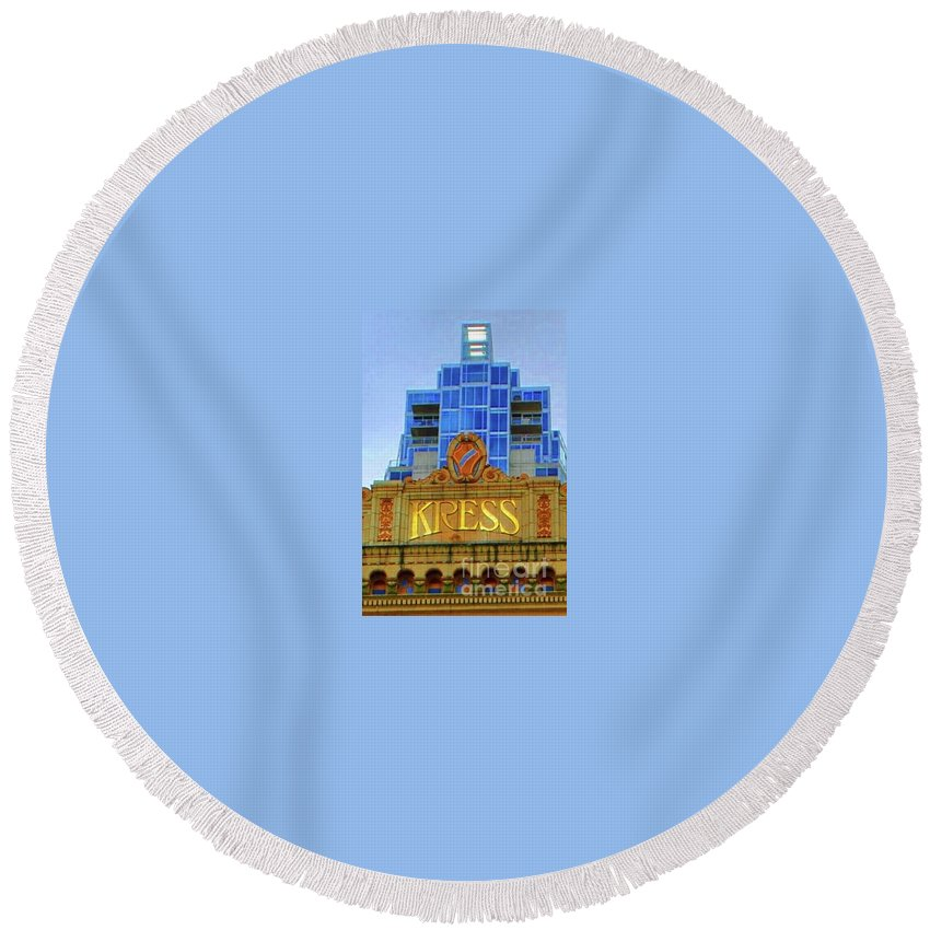 Kress Round Beach Towel featuring the photograph The Kress by Jost Houk