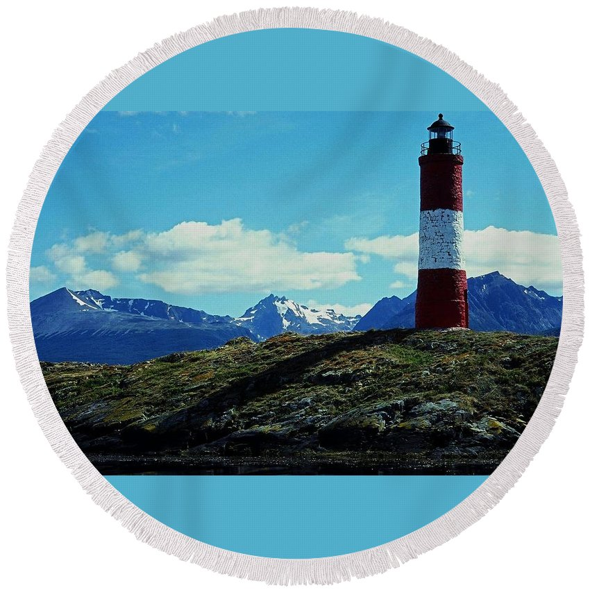 South Round Beach Towel featuring the photograph The Last Lighthouse ... by Juergen Weiss