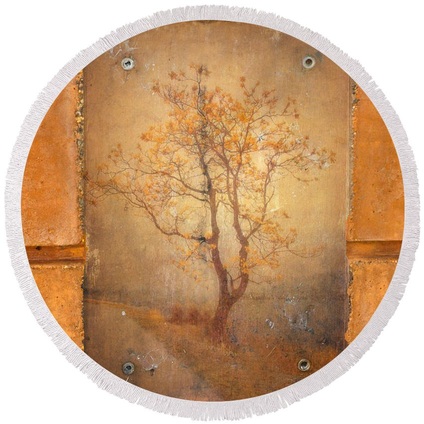 Tree Round Beach Towel featuring the photograph The Last Tree by Tara Turner
