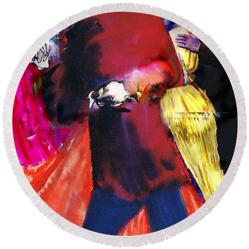 Mixed Media Round Beach Towel featuring the photograph The Last Waltz by Seth Weaver