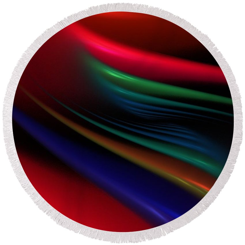 Digital Painting Round Beach Towel featuring the digital art The Light Fantastic by David Lane