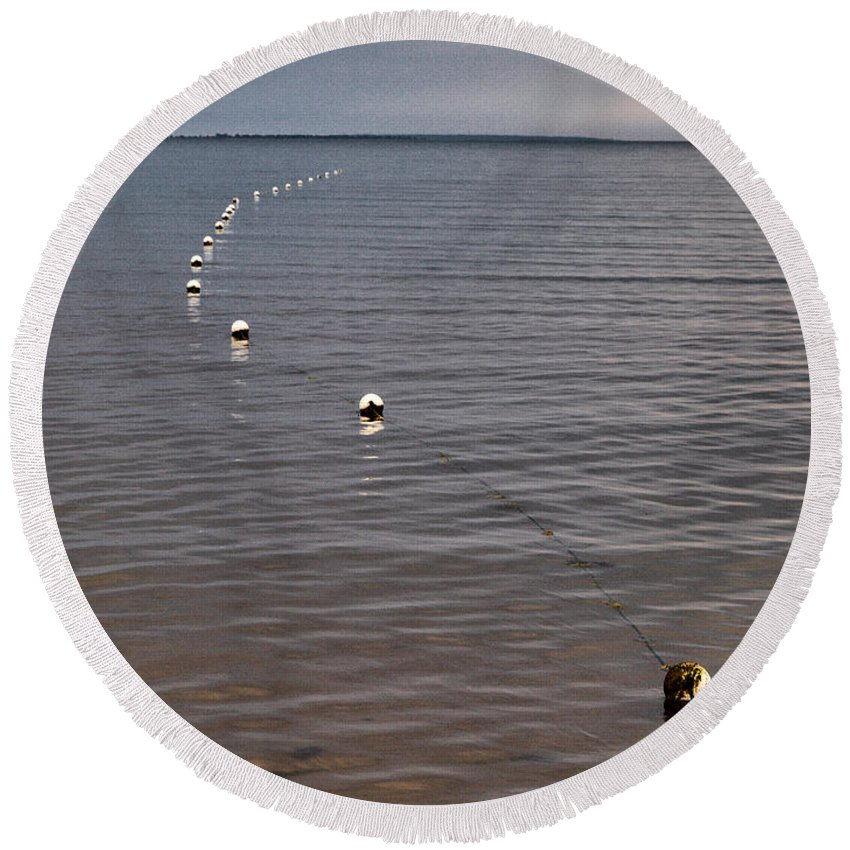Lehtokukka Round Beach Towel featuring the photograph The Line by Jouko Lehto