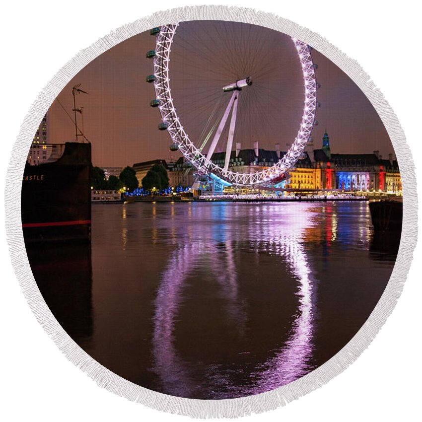 London Eye Round Beach Towels