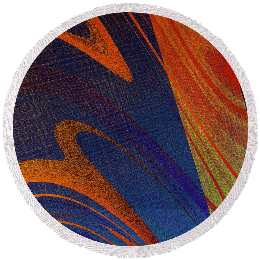 Round Beach Towel featuring the photograph The Part Of A Whole by David Pantuso