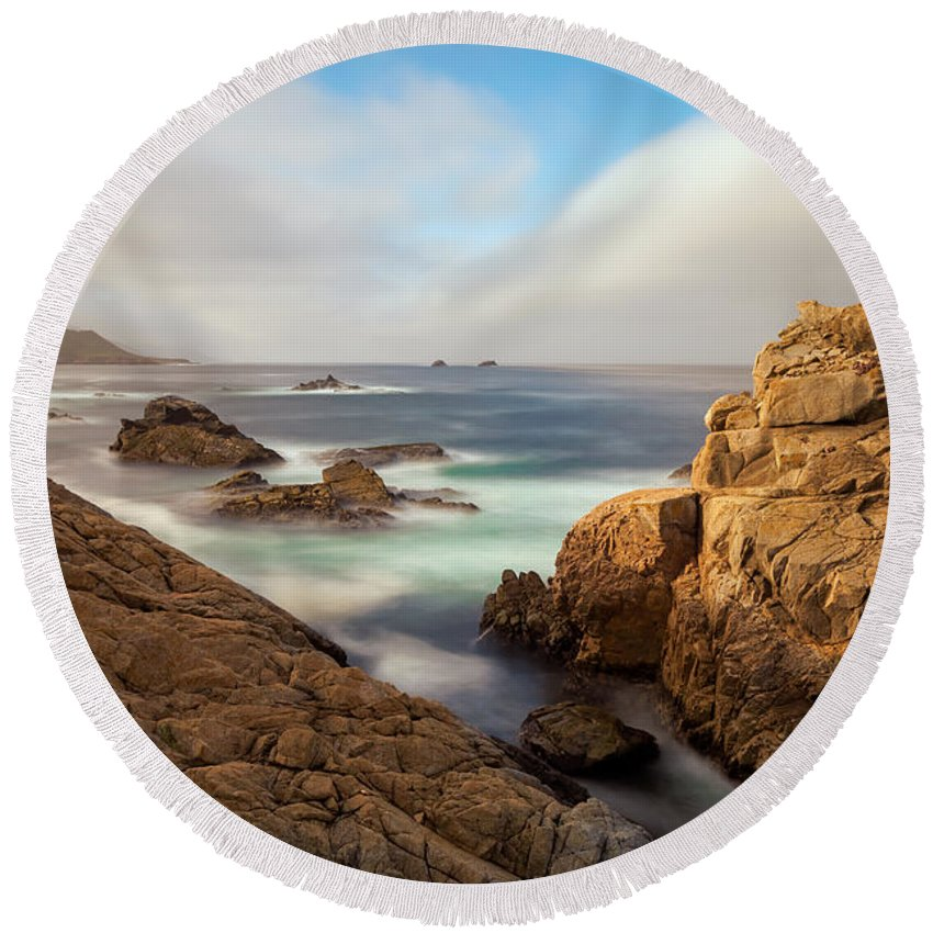Landscape Round Beach Towel featuring the photograph The Passage by Jonathan Nguyen