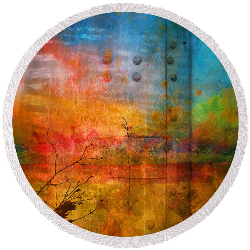 Colour Round Beach Towel featuring the photograph The Places I Have Never Been by Tara Turner