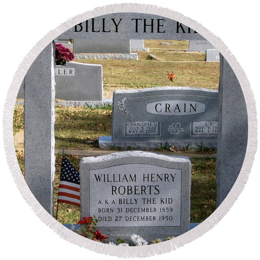 The Real Billy The Kid Round Beach Towel