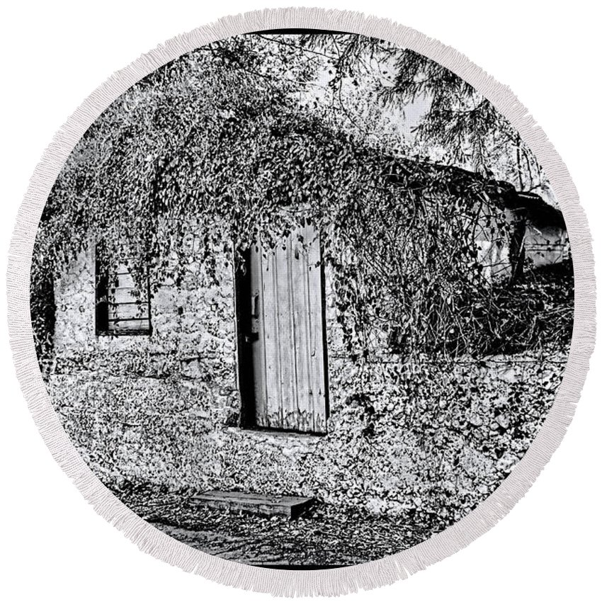 Fall Round Beach Towel featuring the photograph The Root Cellar by Tommy Anderson