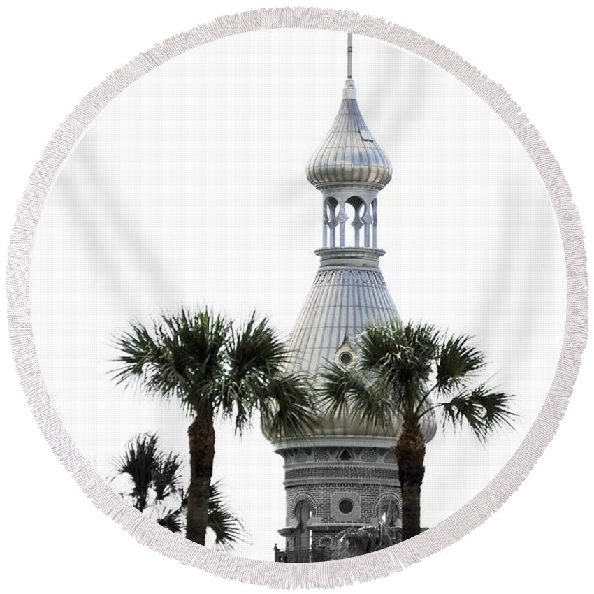 Moorish Architecture Round Beach Towel featuring the photograph The Silver by Jost Houk