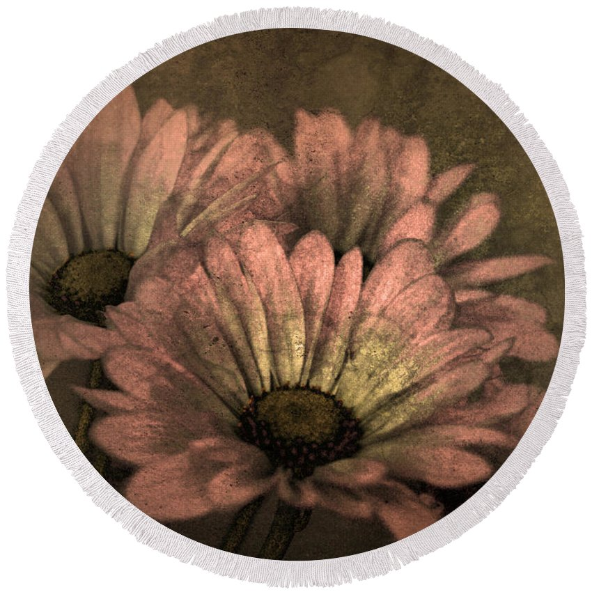 Texture Round Beach Towel featuring the photograph The Soft Glow Of Spring by Tara Turner