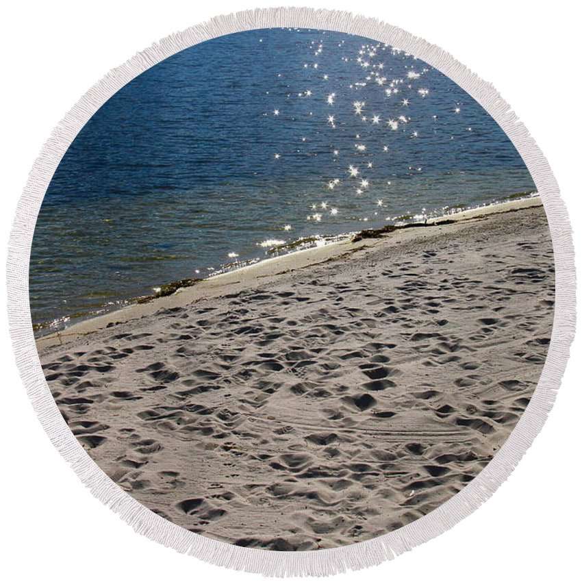 Water Round Beach Towel featuring the photograph The Spirit Of Water by Denise Mazzocco