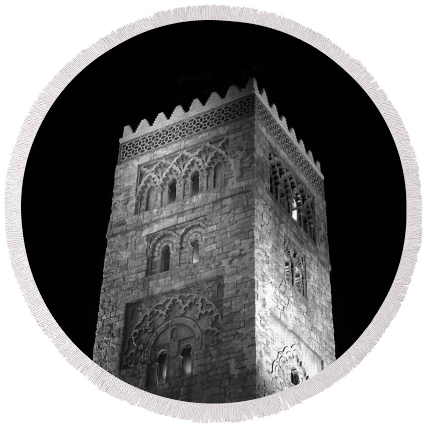 Tower Round Beach Towel featuring the photograph The Tower by David Lee Thompson