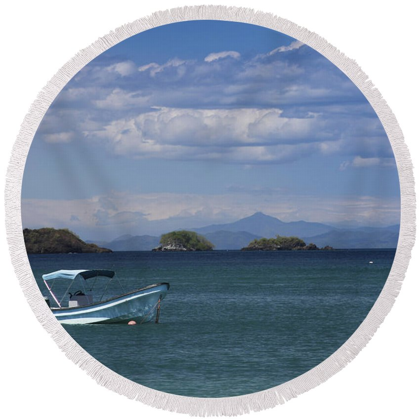 Water Round Beach Towel featuring the photograph The Waters Of Coiba by Christina Gupfinger