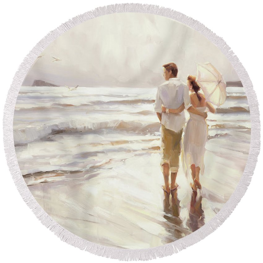 Love Round Beach Towel featuring the painting The Way That It Should Be by Steve Henderson