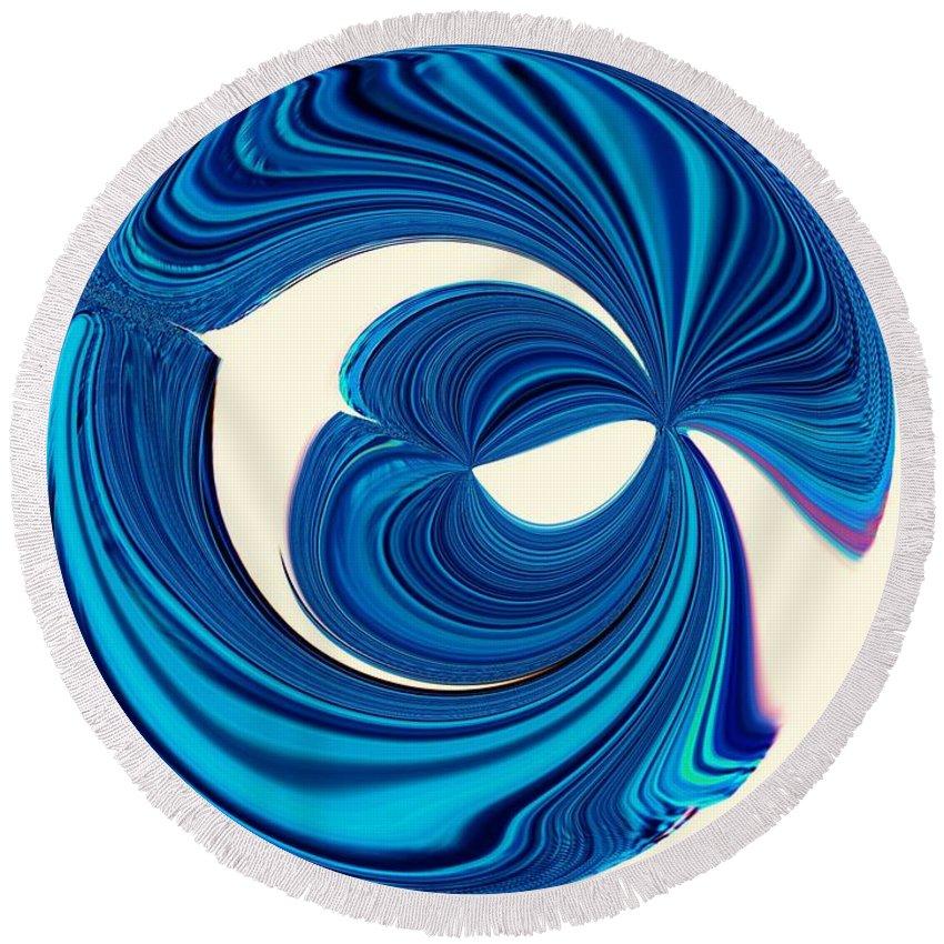 Wedding Round Beach Towel featuring the digital art The Wedding Circle by Debra Lynch