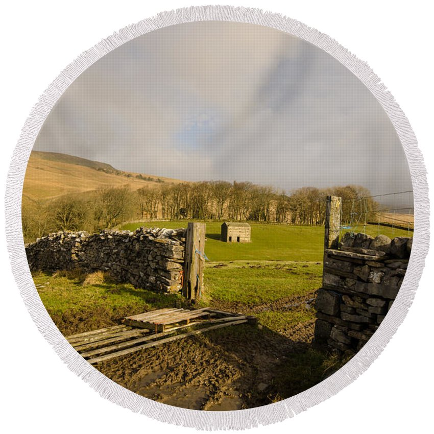 The Dales Round Beach Towel featuring the photograph The Yorkshire Dales by Smart Aviation