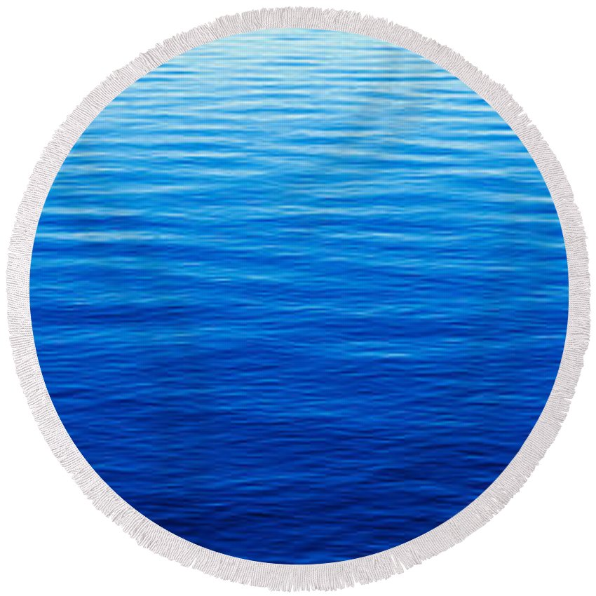 Photography Round Beach Towel featuring the photograph These Are Water Reflections In Lake by Panoramic Images