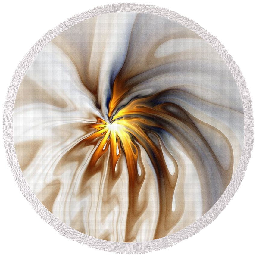 Digital Art Round Beach Towel featuring the digital art This Too Will Pass... by Amanda Moore