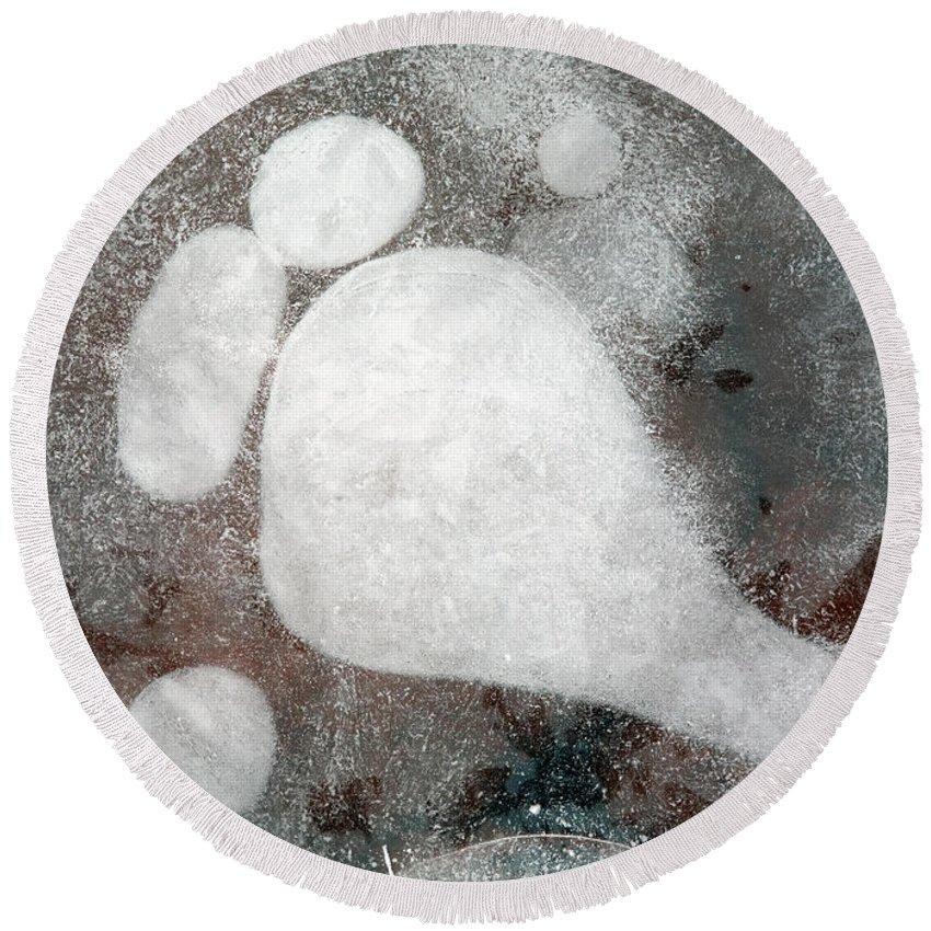 Ice Round Beach Towel featuring the photograph Three Toes by Mike Dawson