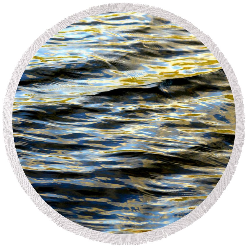Water Round Beach Towel featuring the photograph Through Darkness Came Light by Donna Blackhall