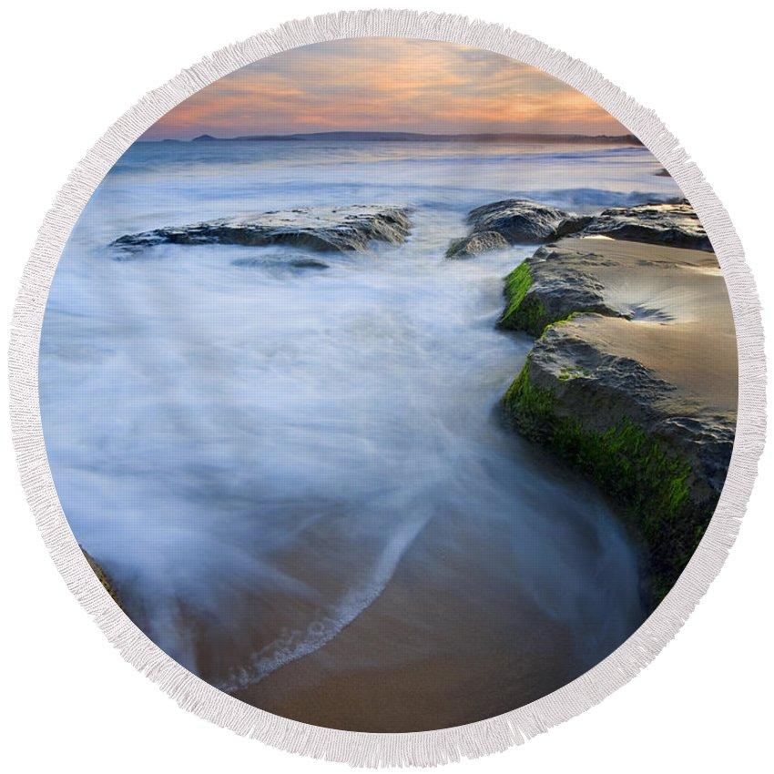 Beach Round Beach Towel featuring the photograph Tidal Bowl by Mike Dawson