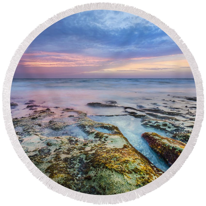 Clouds Round Beach Towel featuring the photograph Timeless by Debra and Dave Vanderlaan