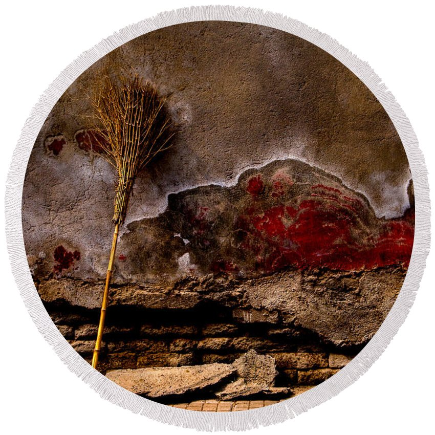 Ancient Round Beach Towel featuring the photograph Timeless Tools by Venetta Archer
