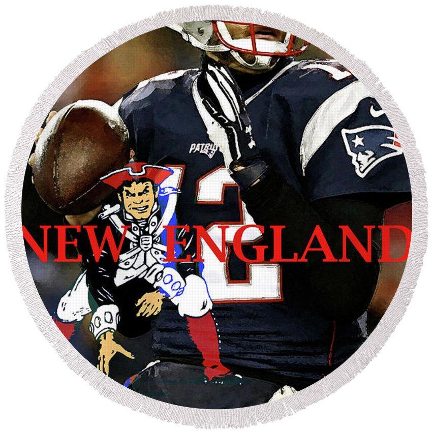 Tom Brady Number 12 New England Patriots Captain America Round