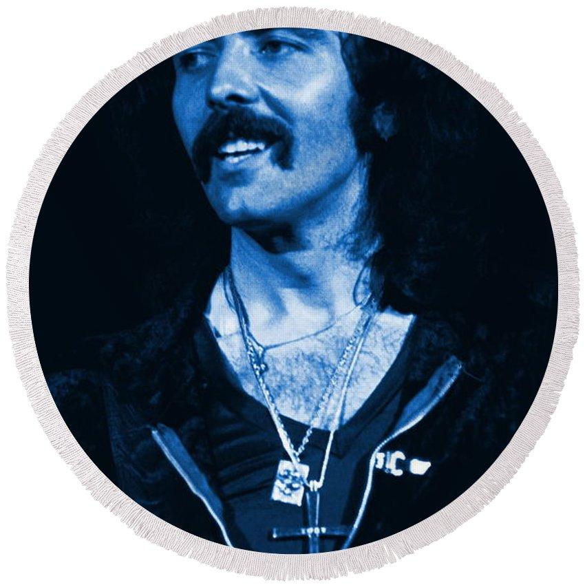 Black Sabbath Round Beach Towel featuring the photograph Blue Fluff by Ben Upham