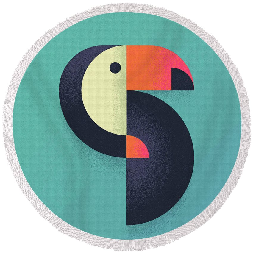 Toucan Round Beach Towels