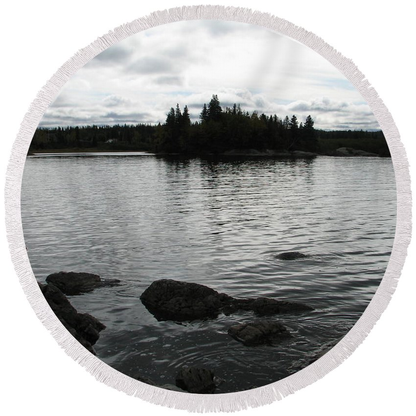 Water Round Beach Towel featuring the photograph Tranquility by Kelly Mezzapelle